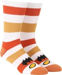 Toy Machine Monster Big Stripe Sock - brown