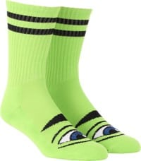 Toy Machine Sect Eye III Crew Sock - lime