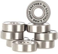 Sector 9 PDP Skateboard Bearings - silver