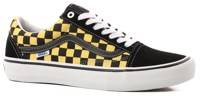 Vans Old Skool Pro Skate Shoes - (checker) black/aspen gold