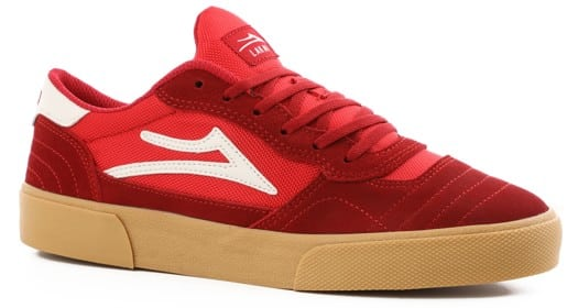 Lakai Cambridge Skate Shoes - red/gum suede - view large