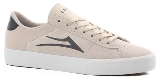Lakai Newport Skate Shoes - white/navy suede - view large