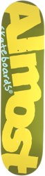 Almost Color Logo 8.125 Skateboard Deck - olive