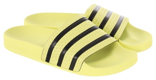 Adidas Originals Adilette W Slide Sandals - ice yellow/ice yellow/core black - view large