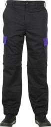 Adidas Hardies Convertible Pants - black/collegiate purple