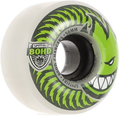 Spitfire 80HD Chargers Classic Skateboard Wheels - clear/green (80d) - view large