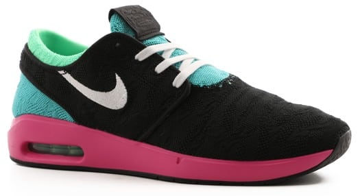 Nike SB Air Max Janoski II Shoes - black/white-cabana-elctro green - view large