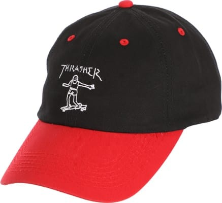 Thrasher Gonz Old Timer Strapback Hat - black/red - view large