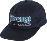5cb38d49991ec Thrasher Outlined Snapback Hat - navy gray