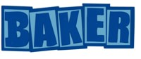 Baker Brand Logo Sticker - blue/light blue