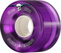 Powell Peralta Clear Cruisers Skateboard Wheels - purple (80a)