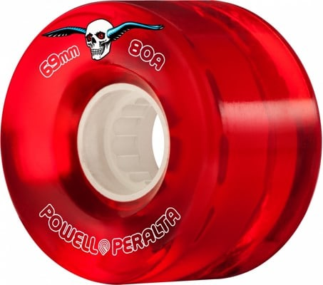 Powell Peralta Clear Cruisers Skateboard Wheels - red (80a) - view large