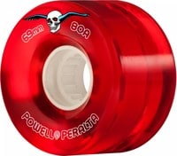 Powell Peralta Clear Cruisers Skateboard Wheels - red (80a)