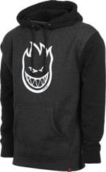 Spitfire Bighead Hoodie - charcoal heather/black/white