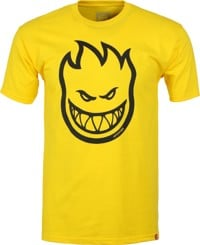Spitfire Bighead T-Shirt - yellow/black print