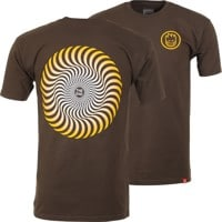 Spitfire Classic Swirl Fade T-Shirt - dark chocolate/yellow/white