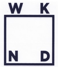 WKND Logo Sticker - navy