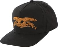 Anti-Hero Basic Eagle Snapback Hat - black/brown