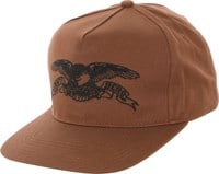 Anti-Hero Basic Eagle Snapback Hat - brown/black