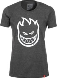 Spitfire Women's Bighead T-Shirt - charcoal heather/white