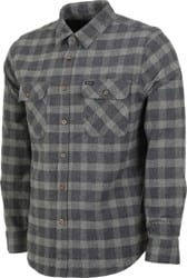 Brixton Bowery Flannel - black/heather grey