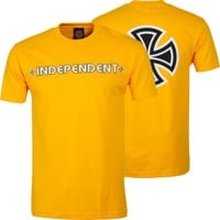 Independent Bar/Cross T-Shirt - gold
