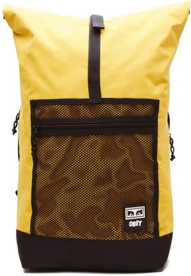 Obey Conditions Roll Top Backpack - energy yellow - view large