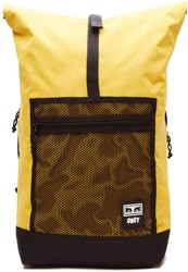 Obey Conditions Roll Top Backpack - energy yellow