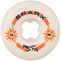 Ricta Sparx Skateboard Wheels - white/orange/yellow (99a)