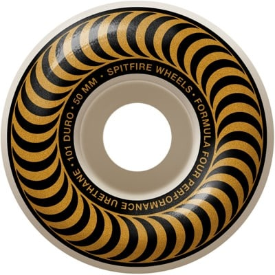 Spitfire Formula Four Classic Skateboard Wheels - white/gold classic swirl (101d) - view large