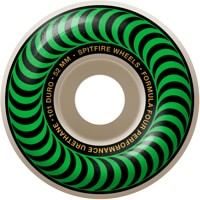 Spitfire Formula Four Classic Skateboard Wheels - white/green classic swirl (101d)