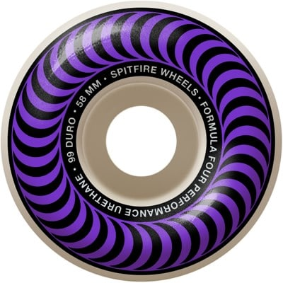 Spitfire Formula Four Classic Skateboard Wheels - white/purple classic swirl (99d) - view large
