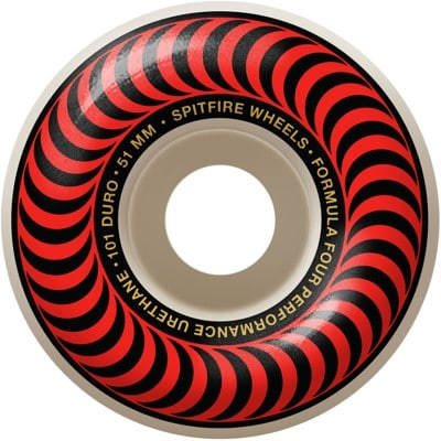 Spitfire Formula Four Classic Skateboard Wheels - white/red classic swirl (101d) - view large