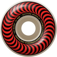 Spitfire Formula Four Classic Skateboard Wheels - white/red classic swirl (101d)