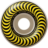 Spitfire Formula Four Classic Skateboard Wheels - white/yellow classic swirl (101d)