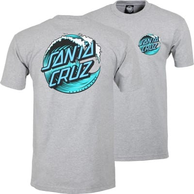 Santa Cruz Wave Dot T-Shirt - athletic heather - view large