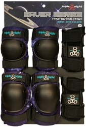 Triple Eight Saver Series High Impact Pad 3-Pack - galaxy