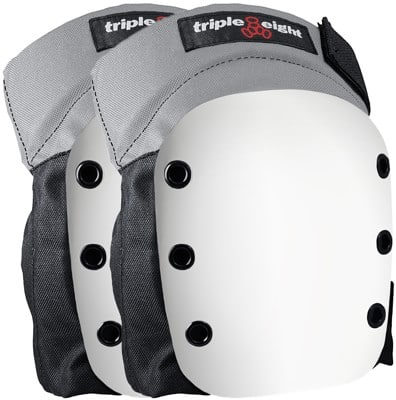 Triple Eight Street Knee Pads - grey w/ white cap - view large