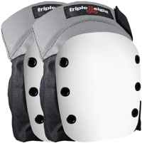 Triple Eight Street Knee Pads - grey w/ white cap
