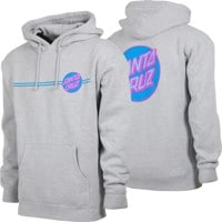 Santa Cruz Other Dot Hoodie - grey heather/blue/pink
