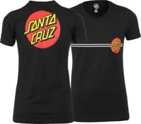 Santa Cruz Women's Classic Dot T-Shirt - black