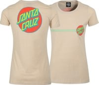 Santa Cruz Women's Other Dot T-Shirt - cream