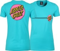 Santa Cruz Women's Other Dot T-Shirt - tahiti blue