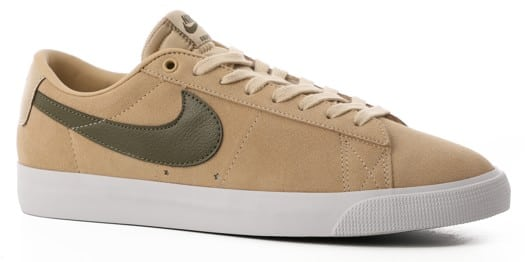 Nike SB Zoom Blazer Low GT Skate Shoes - desert ore/medium olive - view large