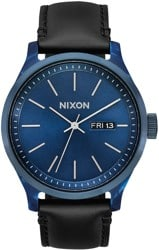 Nixon Sentry Luxe Watch - blue acetate/black