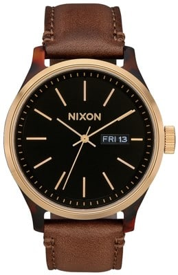 Nixon Sentry Luxe Watch - tortoise/gold/brown - view large