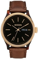 Nixon Sentry Luxe Watch - tortoise/gold/brown
