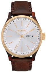 Nixon Sentry Luxe Watch - tortoise/white/sunray brown