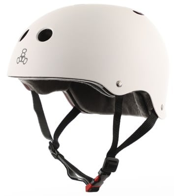 Triple Eight THE Certified Sweatsaver Skate Helmet - white rubber - view large