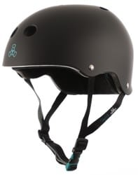 Triple Eight Tony Hawk THE Certified Sweatsaver Skate Helmet - black rubber